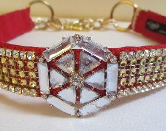 Dog Jeweled Collar Necklace Jewelry Large