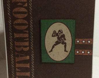 Football scrapbook premade pages chipboard book- 8 x 8 mini album
