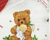 """90s """"A Christmas Cuddle"""" Sunset Kit 18351 Counted Cross Stitch on Waste Canvas Choose Your Own Shirt Unopened Kit"""