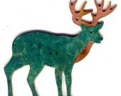 "CopperCutts Standing Deer 4.5"" x 5"" Wall Plaque"