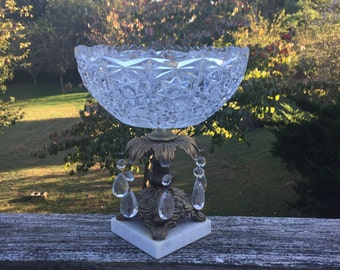 Gothic Compote Bowl Fruit Dish Serving Dish Center Piece Wedding Decor Candle Holder