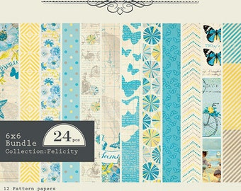 "Authentique Paper ""Felicity"" Collection 6x6 Pad"