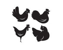 Popular Items For Chicken Stickers On Etsy