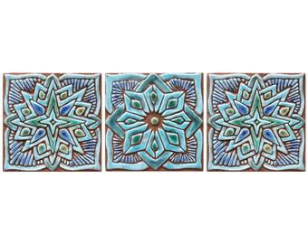Murale en céramique art marocain tentures murales, art mur extérieur avec  décoration marocaine, Moroc