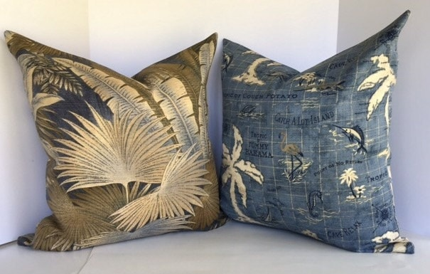 Nautical Decorative Pillow Cover In Tommy Bahama Island Song