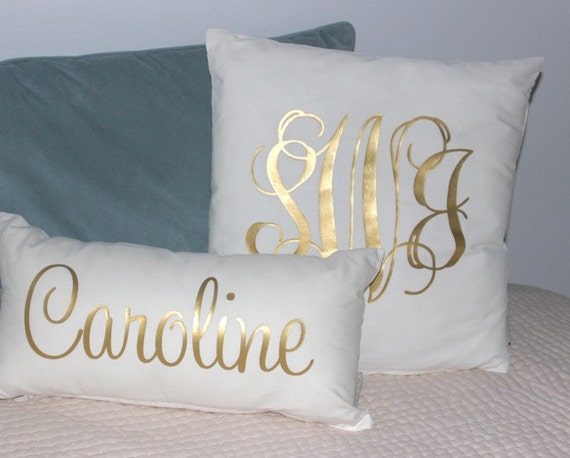 Decorative Pillows With Monogram : Monogram Pillow Throw Pillow Monogram Throw Pillow Home