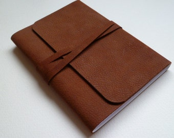 Leather Journal Leather Book Leather Notebook. Rusty Brown Soft Leather with a Distressed Antique Finish.
