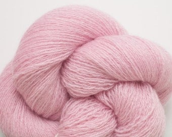Pretty in Pink Recycled Lace Weight Cashmere Yarn, 1499 Yards Available