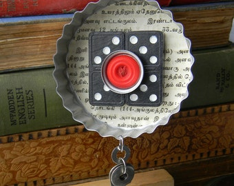 Upcycled Decor - Circles & Dominoes - Vintage Cookie Cutter Ornament - Hanging Decor by Jen Hardwick