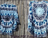 Poncho PDF File Pattern Ocean Weaves Unbalanced Design #3 Not a finished product It is a PDF Pattern DIY Instructions