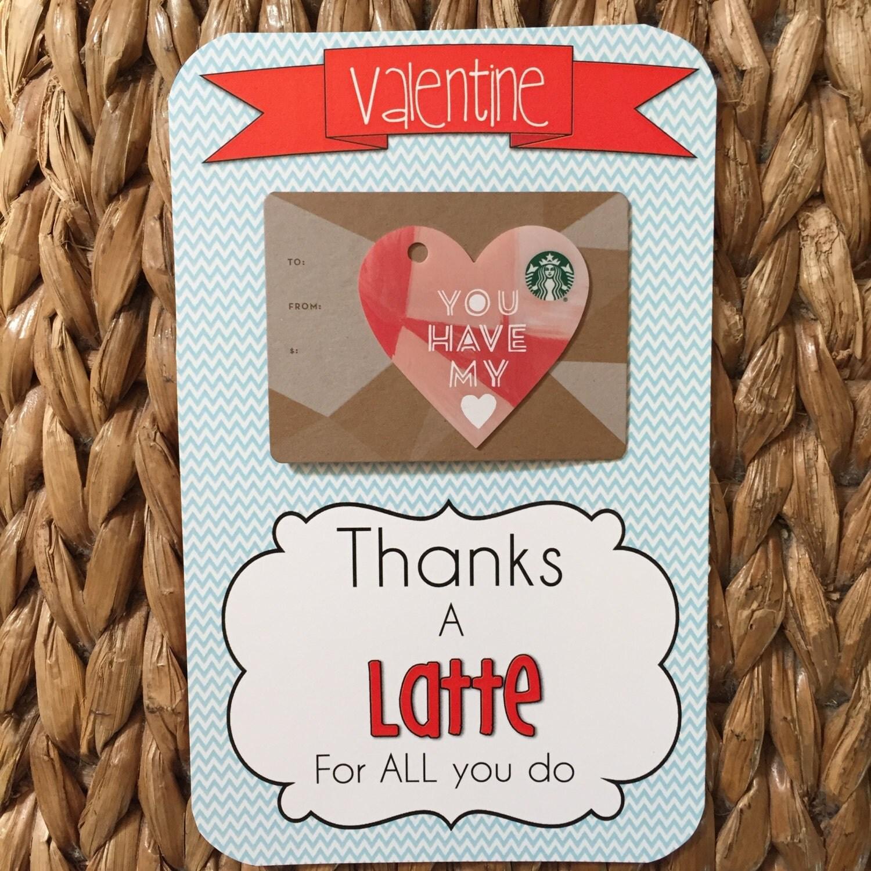 Thanks A Latte Valentine Printable Teacher Appreciation