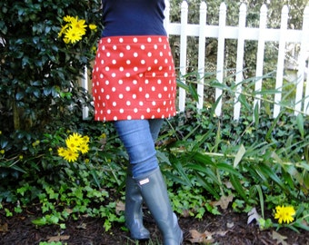 Ladies Polka Dot Half Apron