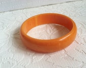 tangerine marble bakelite bangle