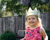 Gold King Crown // Child's Dress-up // Stretch to fit