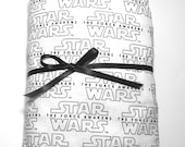 Star Wars Fitted Toddler Sheet Fitted Toddler Sheet Black and White