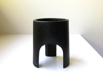 Mid Century Modern Cast Iron Candle Holder Pillar Tripod Mod 1960's