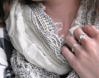 The Messy Minimalist-Sterling Silver Wire Wrapped Ring- Custom Made- Made to Order- Custom Size