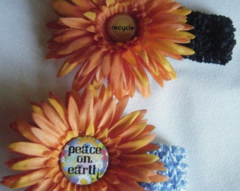 Orange Floral Headband //Autumnal Girls Hair Accessories //Choice of