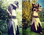 gypsy steampunk ⊕ΩΨ•.witch skirt. •ΨΩ⊕ tattered pirate fairy pixie skirt ~ size xs s m