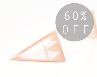 FREE Shipping - ON SALE - Neutral Sand Mini Arrowheads Stud Earrings - Hypoallergenic Surgical Stainless Steel Post Earrings