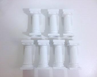"""3"""" Grecian Columns White"""