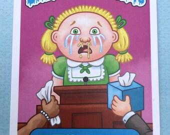 "5"" x 7"" Tess Timony Garbage Pail Saints Jumbo Card"