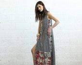 Valentines day Mix Print Maxi Dress