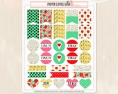 31 Pennants, Page Flags & Hearts Planner Stickers, Calendar Sticker, Planner Accessories, Erin Condren, Filofax, Project Life
