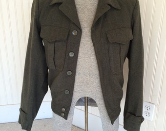 Vintage Army Wool Bomber Jacket