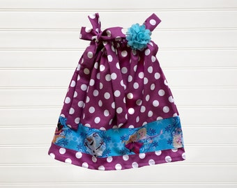 Let It Go Dress Pillowcase Dress Baby Toddlers 6 12 18 24 Months Girls 2 3 4 5 6 8