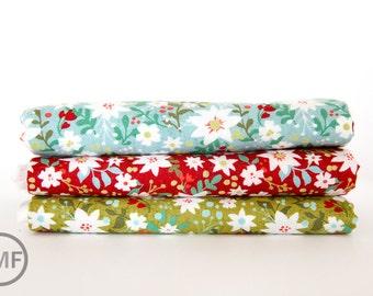 Juniper Berry Merrily Fat Quarter Bundle, 3 Pieces, BasicGrey, 100% Cotton, Moda Fabrics, 30432