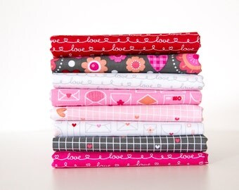Lovebugs Half Yard Bundle, 8 Pieces, Doodlebug Design, Cynthia Sandoval, Riley Blake Designs, 100% Cotton Fabric, C5050