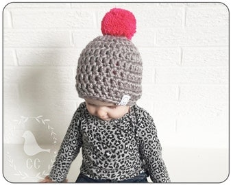 CHUNKY HIPSTER HAT : toddler crochet hat 12-24months