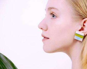 Grass wood earrings