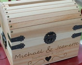 Wedding Card Box Wedding Keepsake Box Wedding Treasure Box with card slot NAS