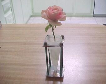 Metal Cone Vase Etsy