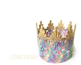 Ready to Ship || Tallulah lace crown|| OOAK || headband option