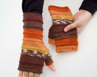 Big Sale -  Knitted fingerless gloves  in  -  COLOR OPTION AVIABLE