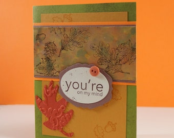 Get Well Soon Wishes - Fall Card - Card For Friend - Autumn Card - Beautiful Handmade Cards - Blank Greeting Cards - Cancer Card