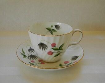 TEACUP, Vintage Adderley Bone China Teacup