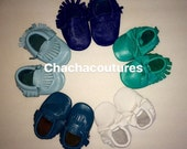 100% genuine leather baby moccasins Mocs moccs LEATHER MOCS