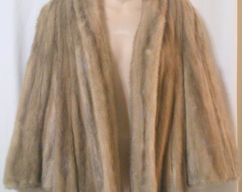 Vintage Blonde Mink Jacket by Bullocks for Repair or Repurpose Small/Medium