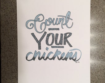 Count your chickensloffice word art