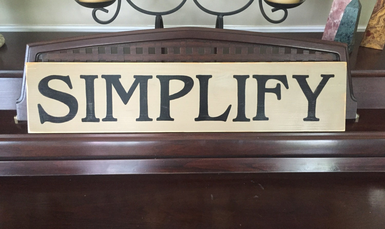 Simplify Sign Plaque Living With Simplicity Room Decor Rustic