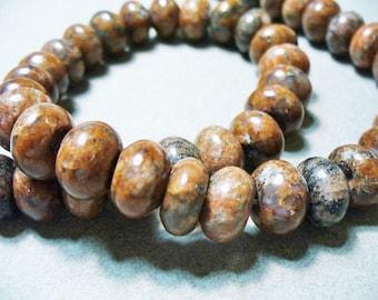 Jasper  Beads Gemstone Rondelles 14x10mm