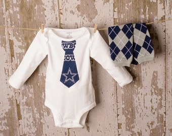 SALE!! Adorable Dallas Cowboy Bodysuit with matching leggings Any Size newborn to 24 months b oodysuit or shirt size 2 4 or 6