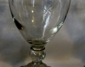 Water Goblets Sherbets Wine Goblets Anchor Hocking Early American Bubble Etched Star RARE Vintage