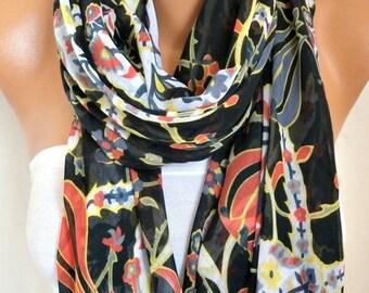 Tulip Cotton Scarf , Fall Fashion,Soft, Shawl, Cowl, Oversized Wrap, Gift Ideas For Her, Women Fashion Women Scarves Bridesmaid Gift