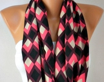 Chevron Infinity Scarf  Shawl Scarf  Circle Scarf Loop Scarf  Gift Ideas For Her Women's Fashion Accessories best selling item scarf