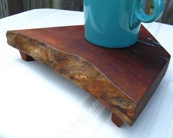 Wood Serving Tray / Cutting Board / Coaster - Salvaged Texas Mesquite Wood  (Can be personalized)